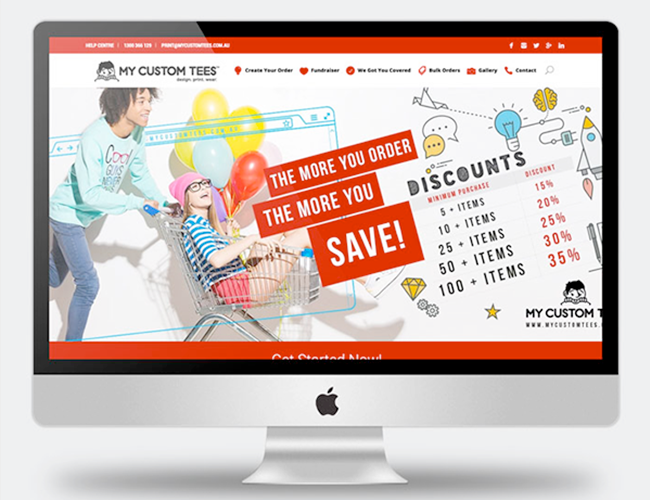 My Custom Tees Website Copywriting