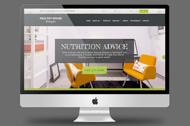 Healthy House Coolangatta Website Copywriting
