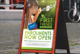FIRST FRIENDS PRESCHOOL SIGNAGE